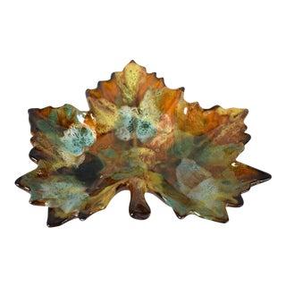 Vintage Van Briggle Leaf Dish For Sale