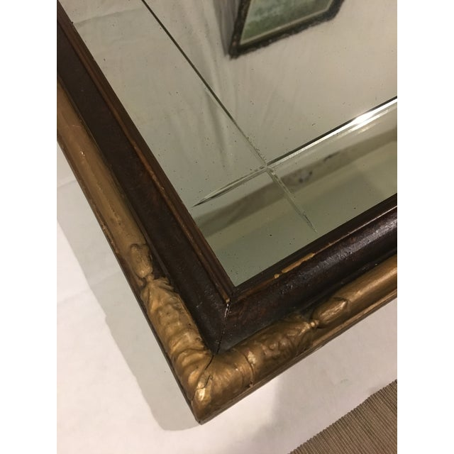 Art Deco Vintage Art Deco Etched Glass Mirror With Gilded Edge Frame For Sale - Image 3 of 6