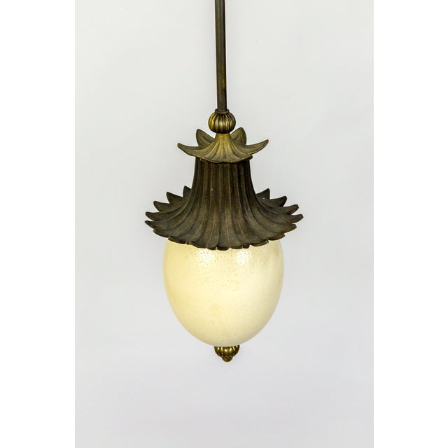 2010s Ostrich Egg Pagoda Pendant For Sale - Image 5 of 10
