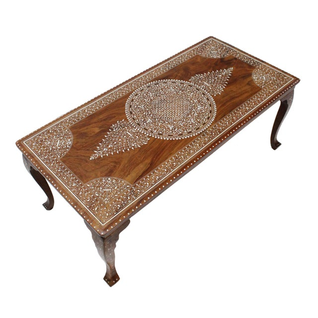 Vintage Bone Inlay Coffee Table - Image 1 of 8