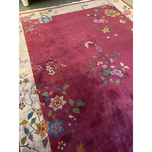 """Art Deco Chinese Art Deco Rug 139"""" X 107"""" For Sale - Image 3 of 10"""