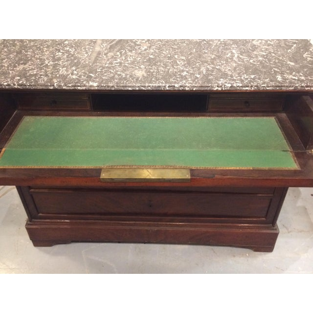 Louis Philippe Three Drawer Desk Commode For Sale - Image 4 of 11