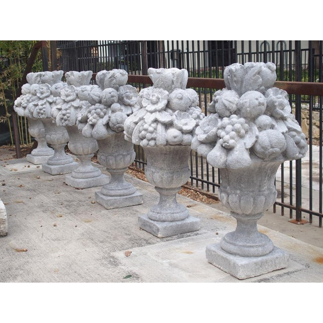 Italian Recomposed Limestone Fruit and Flower Vases (Sold Individually) For Sale - Image 4 of 13