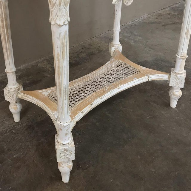 19th Century French Louis XVI Marble Top Table For Sale - Image 12 of 13