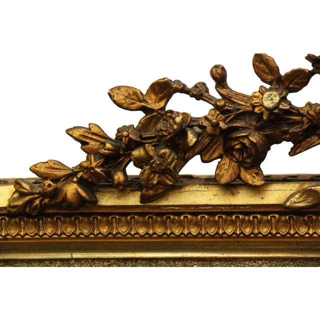 French Victorian Carved Gilt Wood Mirror For Sale - Image 5 of 9