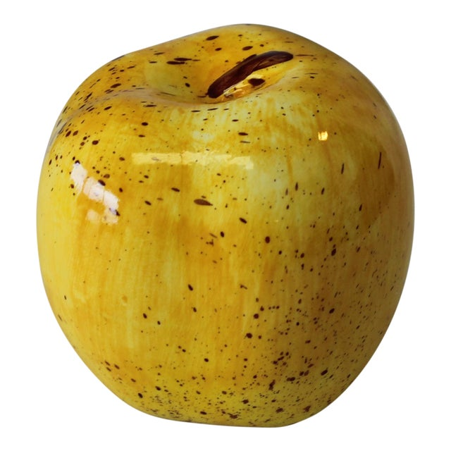 Italian Ceramic Yellow Apple For Sale