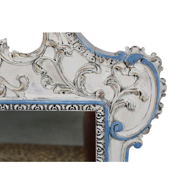 Blue & White French-Style Mirror - Image 5 of 6