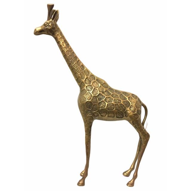 Vintage Mid-Century Brass Giraffe For Sale - Image 4 of 8