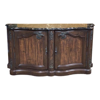 Henredon Traditional Marble Top Buffet For Sale