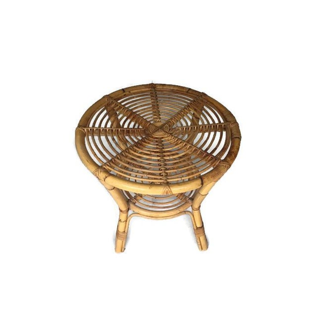 Albini-Style Bentwood Bamboo Side Table - Image 3 of 7