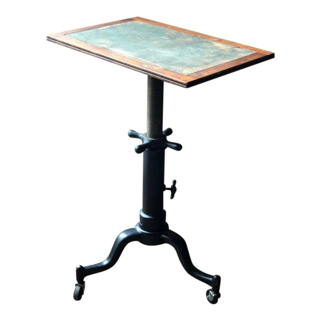 Antique Industrial Adjustable Cast Iron Drafting Table / Desk For Sale