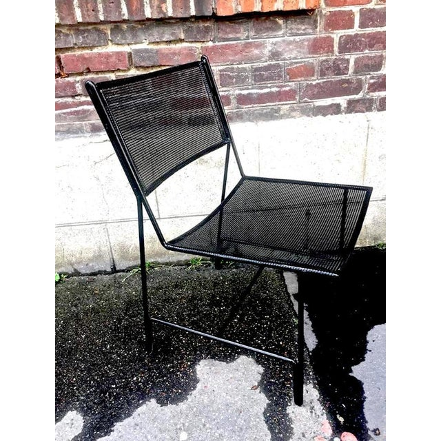 "Mathieu Mategot Unique Set of Four Black Metal Chair Models ""Panamera"" For Sale - Image 6 of 8"