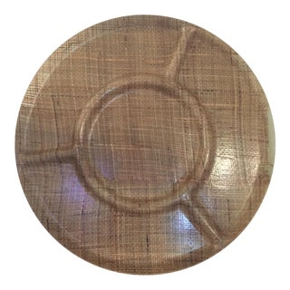 Wicker Resin Traymold Serving Tray For Sale