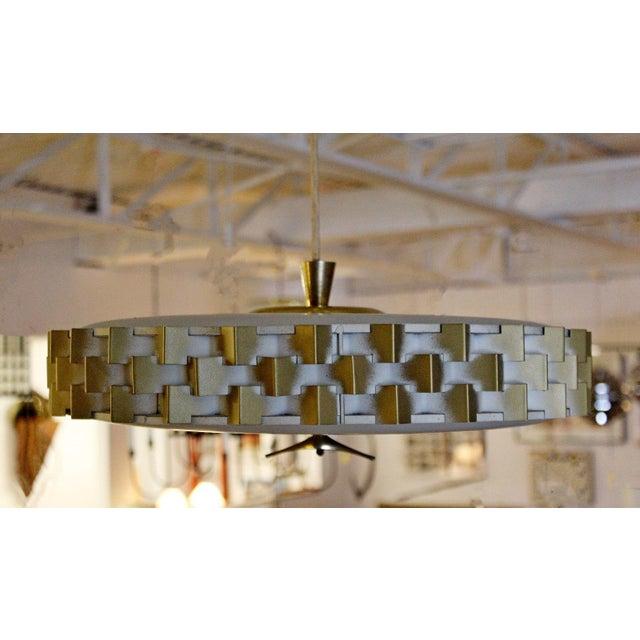 Mid Century Modern Light Craft Of Ca Brass Pull Down Ceiling Light