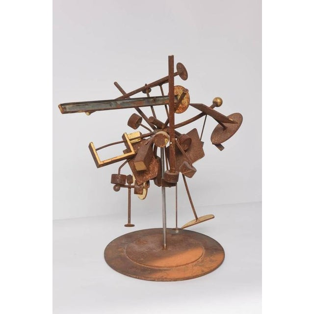 Gold Leaf Kinetic Dimensional Works, Abstract Expressionism Sculpture For Sale - Image 7 of 11