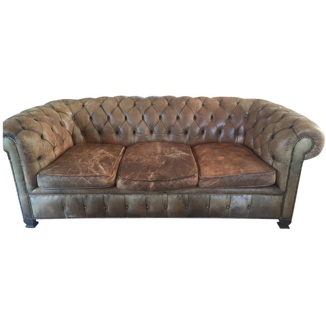 19th-Century Chesterfield Sofa - Image 1 of 8