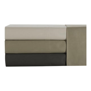 Florence Solid Fitted Sheet Queen - Pumice For Sale