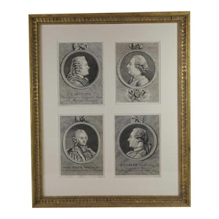 Early 19th Century Antique Framed Grand Tour Style Engravings For Sale