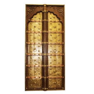 Antique Indian Brass Copper Iron Architectural Double Doors
