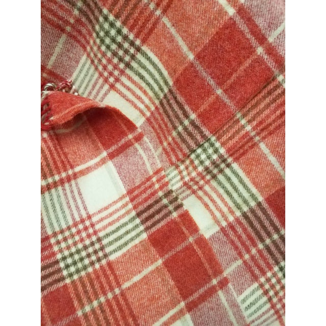 2020s Wool Throw Reds Black White Plaid - Made in England For Sale - Image 5 of 8