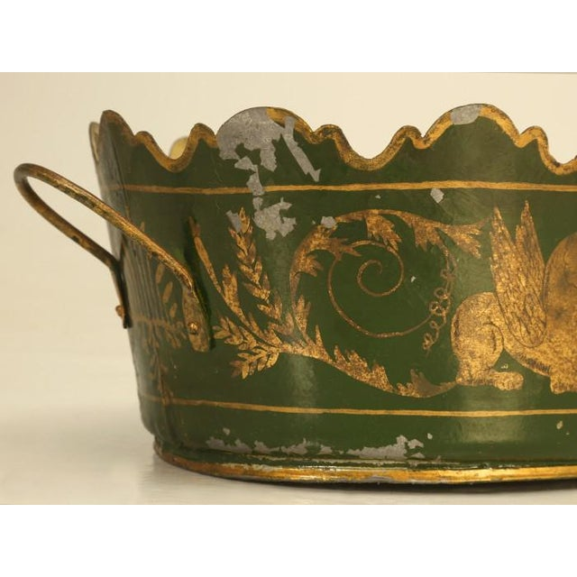 Green French Tole Jardinière, Circa 1800s For Sale - Image 8 of 9