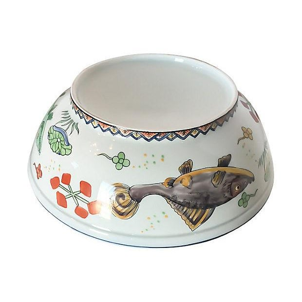 Vintage Fish Motif Lidded Serving Bowl - Image 6 of 7