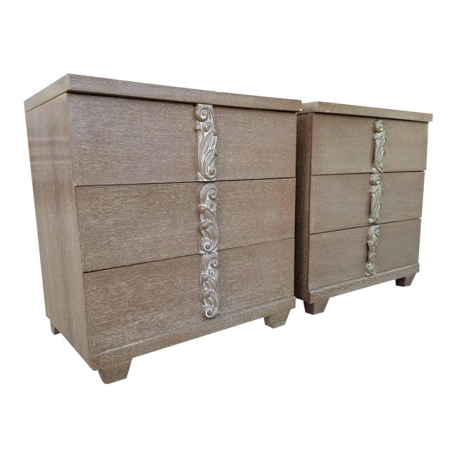 Albert Furniture Cerused Dressers - A Pair For Sale