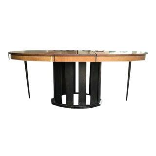 Modern Polished Walnut Dining Table