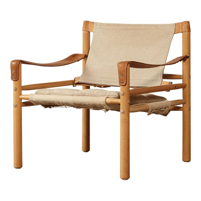 1970s Mid-Century Modern Arne Norell Safari Sirocco Lounge Chair For Sale