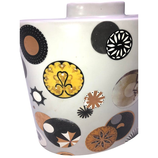 French Mid Century French Porcelain Vase by Fabienne Jouvin For Sale - Image 3 of 7