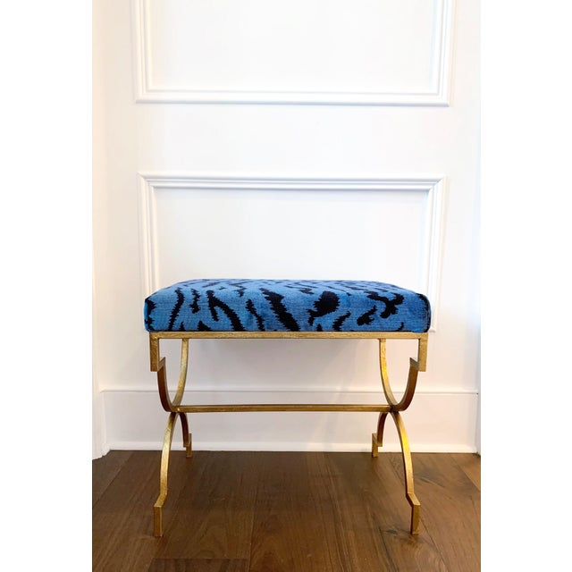 2010s Scalamandre Le Tigre Stool For Sale - Image 5 of 5