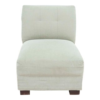 Crate & Barrel Upholstered Slipper Chair For Sale