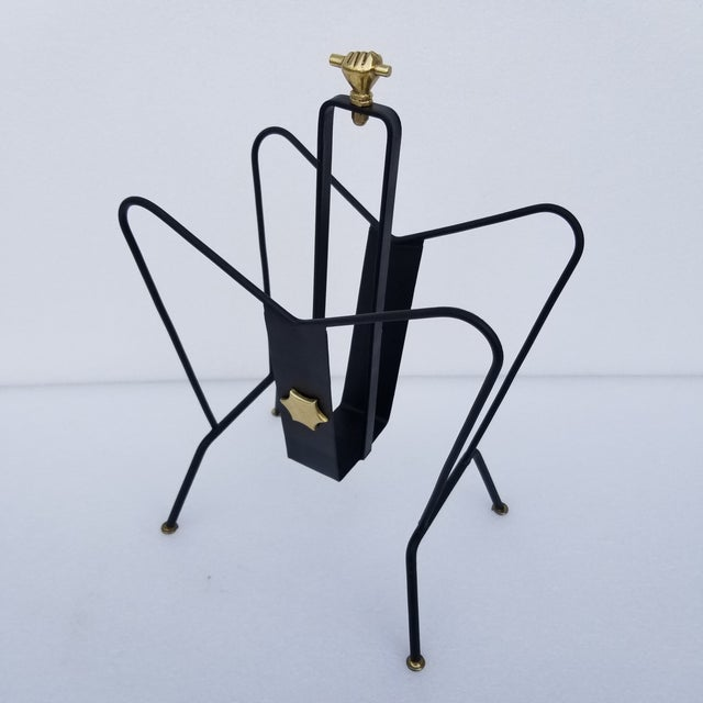 1950s Jacques Adnet Magazine Rack For Sale - Image 11 of 11
