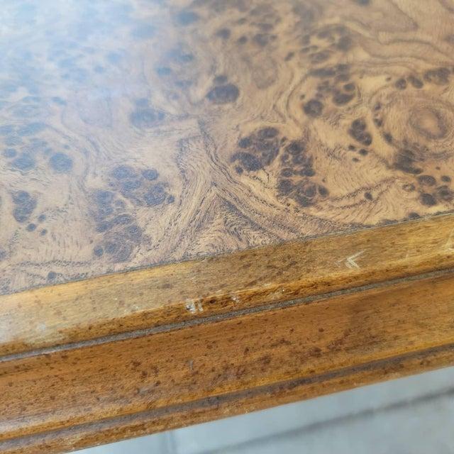Modern Vintage Modern Wood Dining Table For Sale - Image 3 of 13