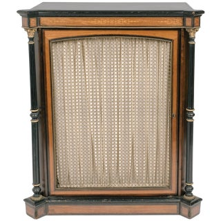 1880s Victorian Cabinet With Ebonized Columns For Sale