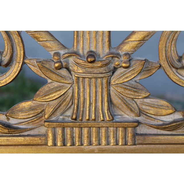 1940's Neoclassical Style Carved Walnut Wall Mirror For Sale - Image 9 of 13