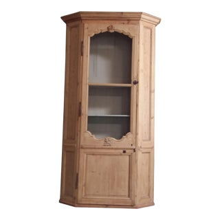 Swedish Tall Pine Cabinet For Sale