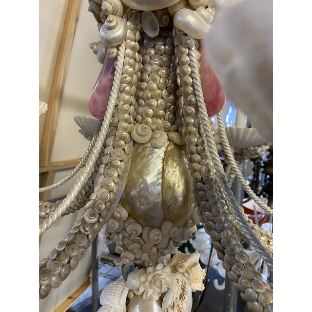 Early 21st Century Italian Pearlized Sea Shell Chandelier For Sale - Image 5 of 12