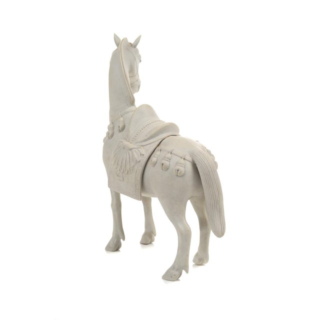 White Rare Chinese Bisque Porcelain Horse Figurines - 2 For Sale - Image 8 of 9