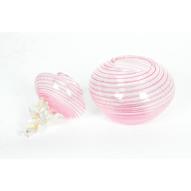 Contemporary Vintage Murano Glass Vanity Jar For Sale - Image 3 of 5