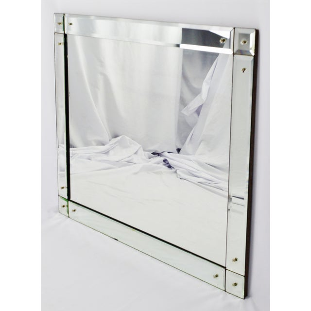 Early Beveled Wall Mirror with Glass Florets - Image 11 of 11