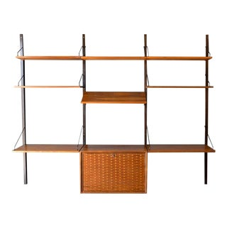 Poul Cadovius Royale System Walnut Wall Unit, Circa 1965 For Sale