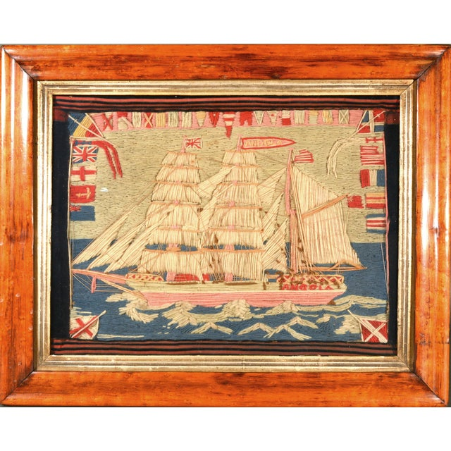 Antique British Sailor's Woolwork of the Angola For Sale