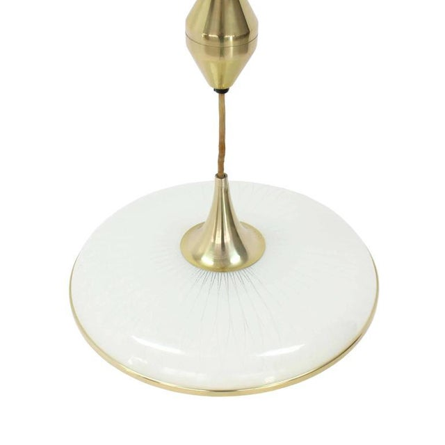 Ceramic Retractable Adjustable Height Light Fixture For Sale - Image 7 of 10