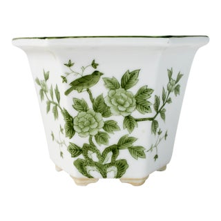 Vintage Ceramic Asian Planter For Sale