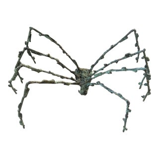 Figurative Hand Sculpted Bronze Spider For Sale