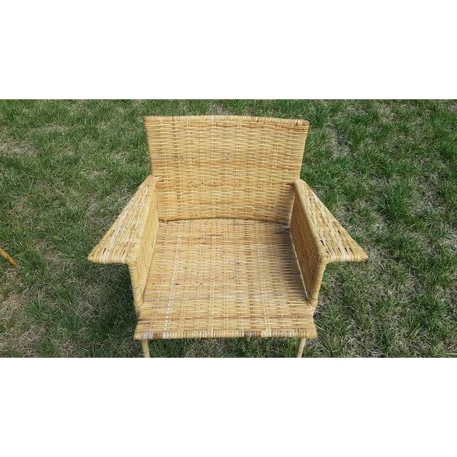 Van Keppel and Green Wicker and Wrought Iron Chairs - Set of 3 For Sale - Image 10 of 11