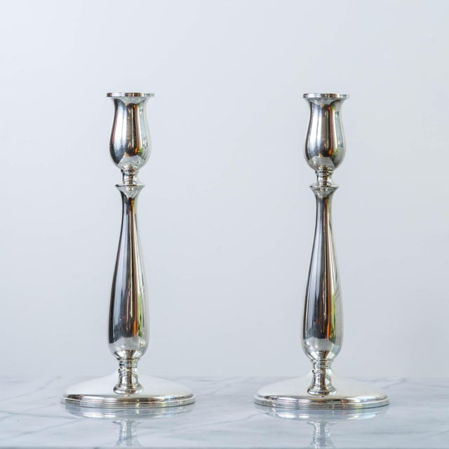 Vintage Cartier Sterling Silver Candlesticks - a Pair For Sale In Los Angeles - Image 6 of 6
