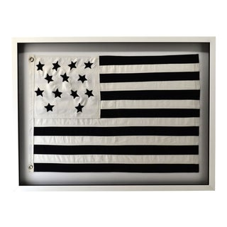 Modern Black and White Flag, Framed For Sale
