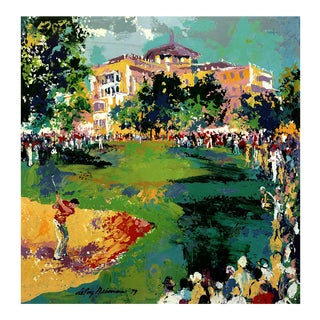 """Leroy Neiman Manufacturers Hanover Westchester Classic 28.5"""" X 22.25"""" Poster 1980 Expressionism Multicolor For Sale"""